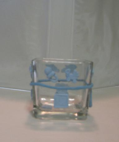Blue  Baby  Polymer Clay Changing Table Cube 2