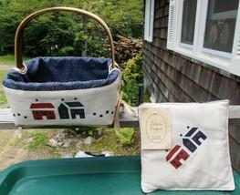 ~ Vintage Sarahs Designs Covered Woven Basket & Pot Holder ~ Must See>> - $8.00