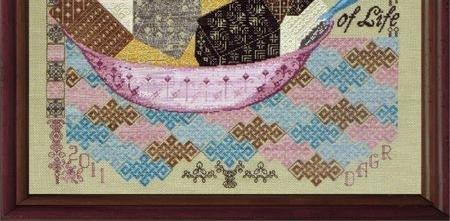 Quaker Rocky Road cross stitch chart Tempting Tangles