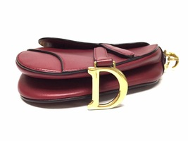 NEW AUTH Christian Dior RED Saddle Shoulder Bag WITH STRAPLESS  image 5