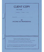 Income Tax return Client Copy Cover with Tabs - 50 Count - $39.50