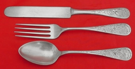 Antique Lily Engraved by Whiting Sterling Silver Junior Set 3-Piece Antique - $189.00