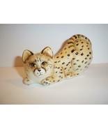Fenton Glass Natural Cheetah Crouching Cat Kitten Figurine Ltd Ed #10/31... - $167.33
