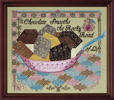 SILK FLOSS PACK for Quaker Rocky Road Tempting Tangles Dinky Dyes