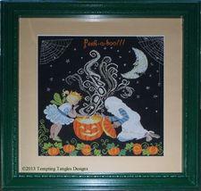 Peek A Boo halloween cross stitch chart Tempting Tangles - $14.40
