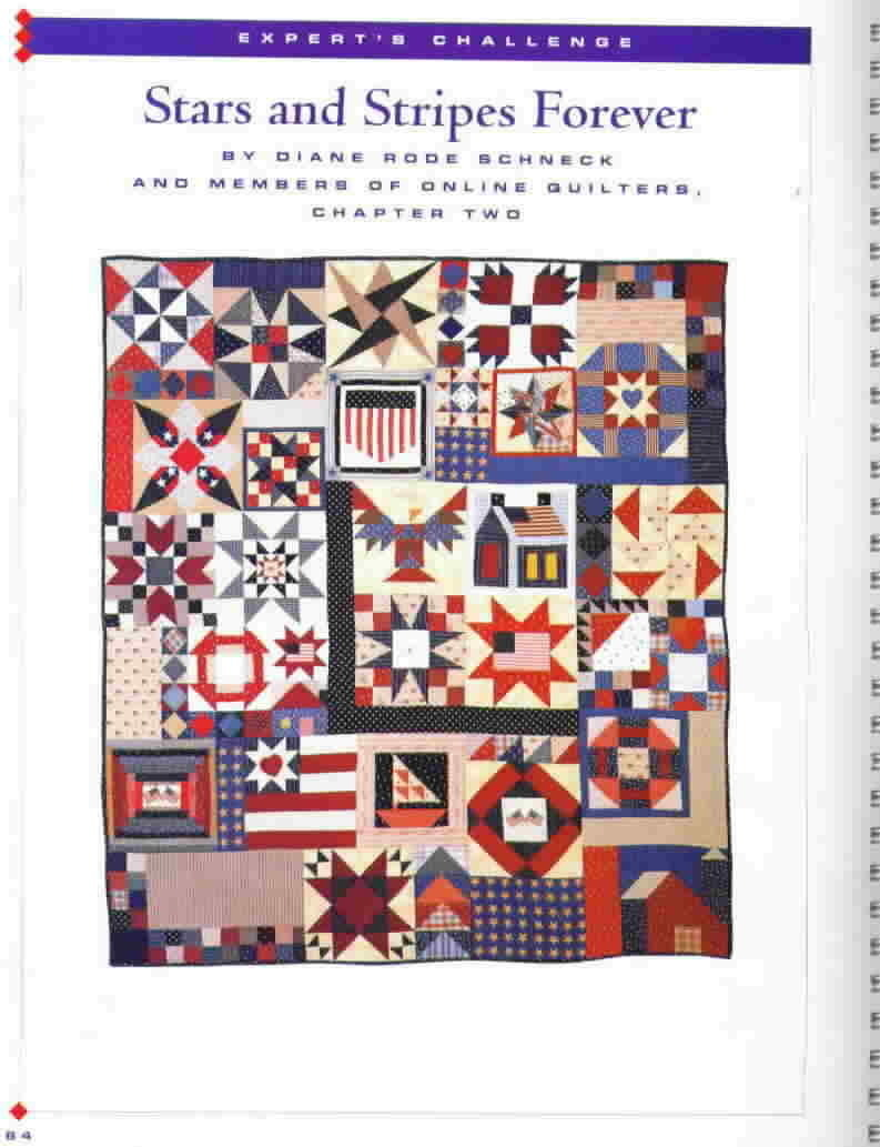 Great Patchwork Stars and Stripes Better Homes and Gardens