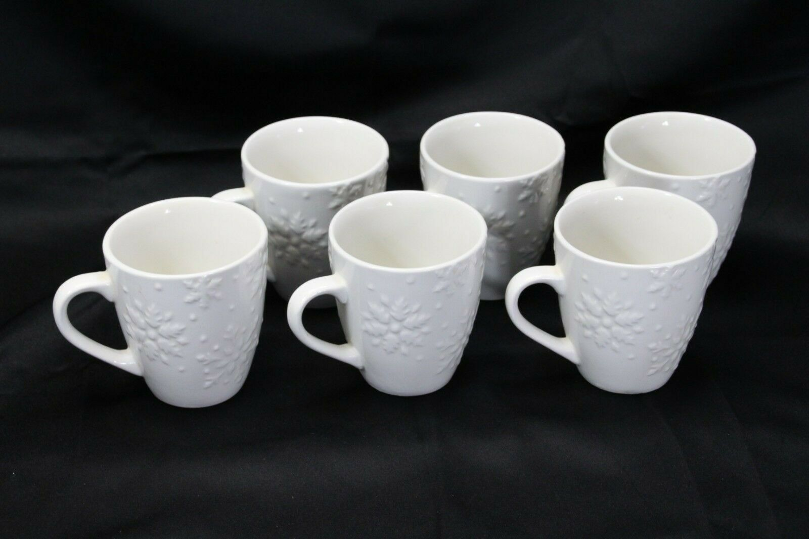 """Snowflakes by Thomson Mugs Large 4"""" Lot of 6"""