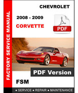 CHEVROLET CORVETTE C6 2008 2009 FACTORY SERVICE REPAIR MAINTENANCE MANUAL - $14.95