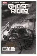 Ghost Rider 1 Marvel Now Dell'Otto B&W SIGNED X2 Gabriel Luna & Felipe S... - $32.00