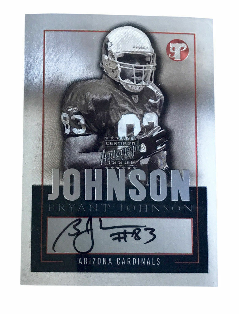 Primary image for 2003 Topps Pristine - Autographs #PE-BJ Bryant Johnson Arizona Cardinals