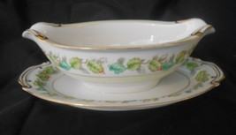 Fuji China Garland Occupied Japan Gravy Boat w/ Underplate Fall Leaves D... - $14.50