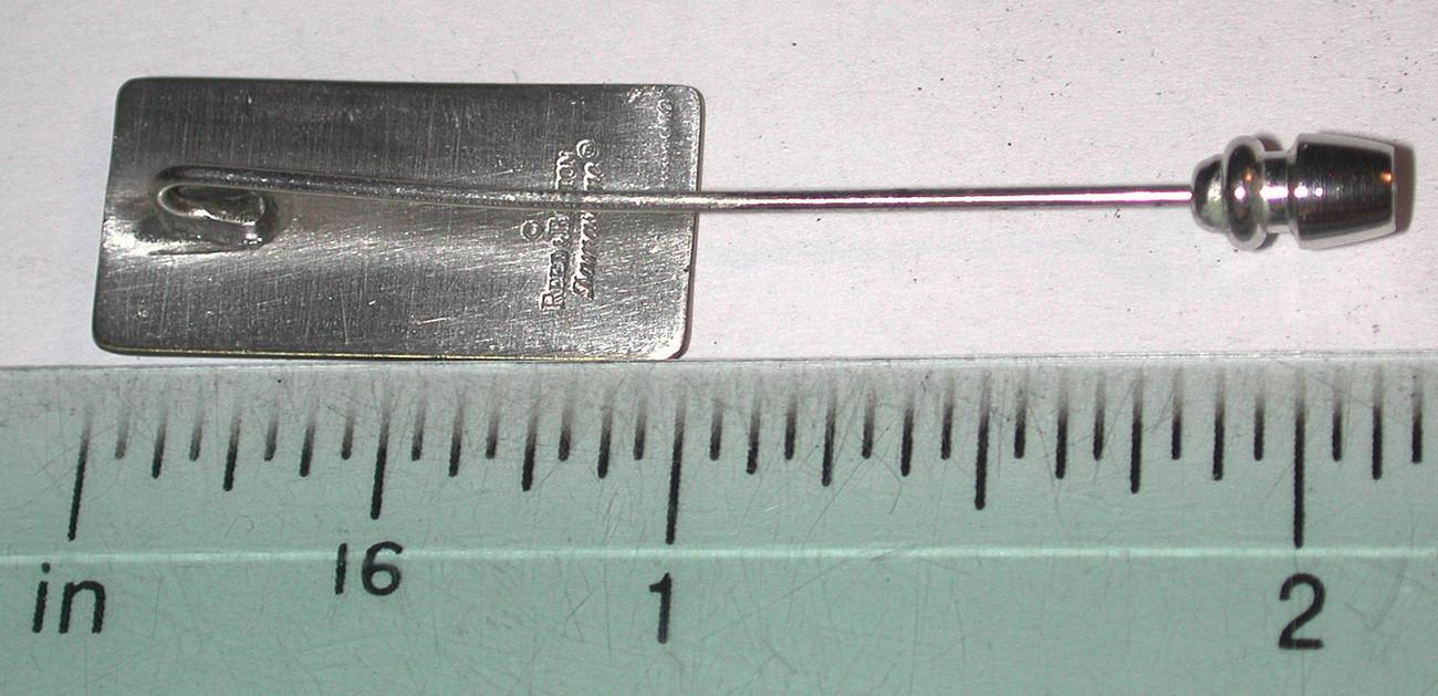 Asian Lady Vintage REED BARTON DAMASCENE stickpin/Pin/brooch