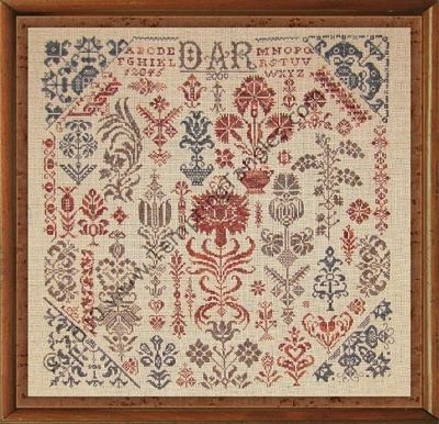 Panoply of Posies cross stitch chart Tempting Tangles