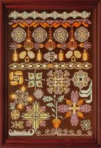 Panoply of Pods & Puffs cross stitch chart Tempting Tangles  - $18.00
