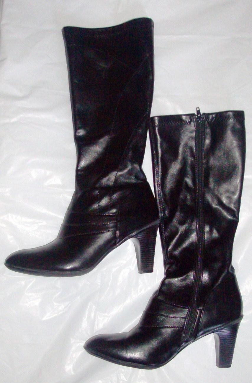smith womens high heel zip up boots size 9 5 boots