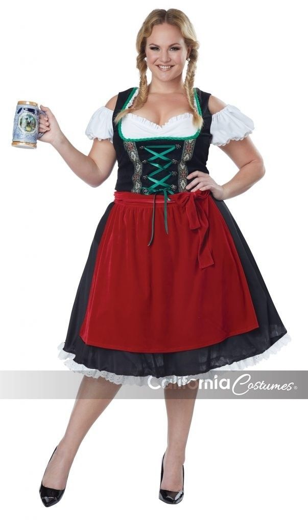 California Costumes Oktoberfest Fräulein Erwachsene Damen Halloween Übergröße