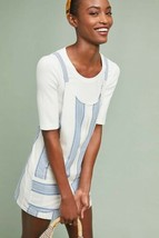 New Anthropologie Pocketed Stripe Romper Bishop + Young SMALL $90 Blue/W... - $47.52