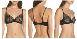 Skarlett Blue Heartbreaker Lace Unlined Underwire Bra Black Size 32C $55... - $24.50
