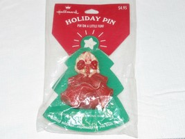 "HALLMARK Holiday Pin ""pin on a Little Fun"" Barbie Christmas holiday - $10.67"