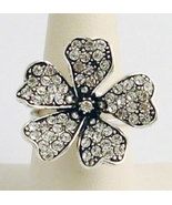 Swarovski Crystals Reproduction Ring Sz 7 - $41.00