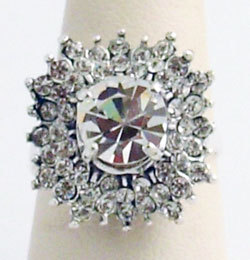 Primary image for Swarovski Crystals Reproduction Ring Sz 7
