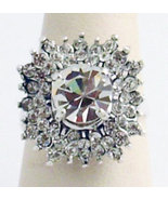 Swarovski Crystals Reproduction Ring Sz 7 - $36.00