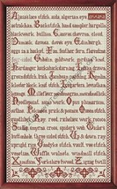 Needleworker's Abecedairus cross stitch chart Tempting Tangles  - $13.50