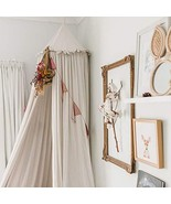 MAMERIA Kids Bed Canopy with Frills Cotton Mosquito Net for Baby Crib Re... - $77.08