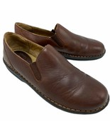 Predictions Loafer Shoes Slip On Leather Women's EU Size 40 US 9.5 Brown Comfort - $19.79