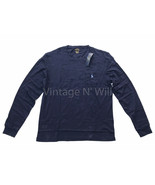 Polo Ralph Lauren Mens L Slim Fit Newport Navy/ Blue Pony Logo Pocket T-Shirt - $29.99