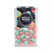 Geometric Tropical Birthday Tic Tac Labels - $13.37