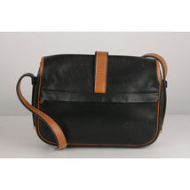 Authentic Hermes Vintage Black and Tan Leather Noumea Shoulder Bag image 4