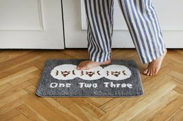 Romane Bathroom Floor Foot Rug Mat Non Slip Indoor Door Bath Matt (1,2,3 Print) image 4