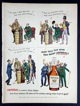 1950 Imperial Hiram Walker Whiskey Vintage Magazine Print Ad - $8.90