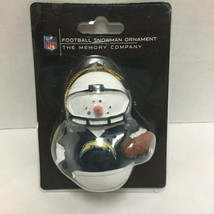 Football Snowman Christmas Ornament New Old Stock The Memory Company 2012 - $19.79