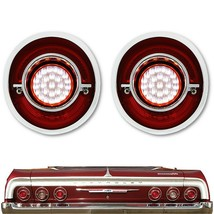 64 Chevy Impala Red Clear LED Rear Back Up Reverse Light Lens Assembly P... - $159.95