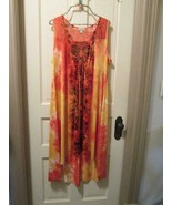 Live and Let Live Asymmetric Spring Summer Butterfly Dress 3XL tie dye  ... - $40.00