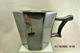 Starbucks 2013 14oz Gun Metal Metallic Color 8 sided Mug  - $13.99