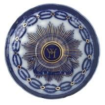 Antique Ca 1900 Martha Washington Flow Blue Chain of States Saucer Promo... - $20.53