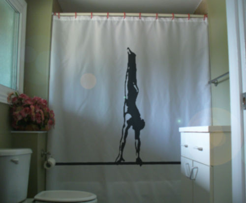 Primary image for Shower Curtain male gymnast on bar balance gymnastics