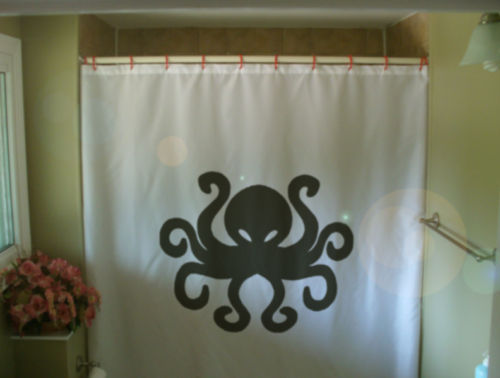 Shower Curtain Octopus Eight Leg Sea Creature Tentacle Shower Curtains