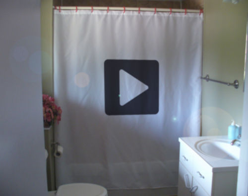 Primary image for Shower Curtain play symbol have fun no work today enjoy