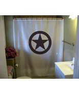 Shower Curtain texas star circle lone state symbol ring - $59.99