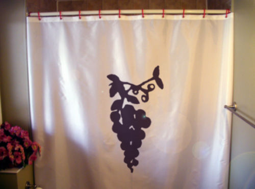 Primary image for Shower Curtain grape vine plump juicy fruit hang wine