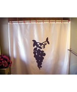 Shower Curtain grape vine plump juicy fruit hang wine - $64.99