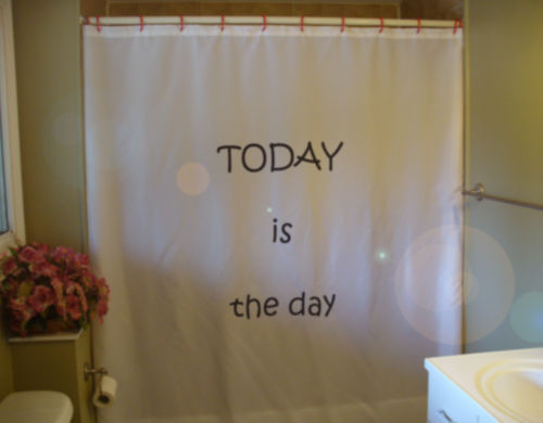 Primary image for Shower Curtain today is the day positive inspire hope