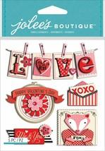 Jolee's Boutique Valentine Words Dimensional Sticker Set