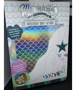 Mermaid Mermazing Iridescent Body Tattoos 2 Sheets Cut and Customize NEW - $7.91