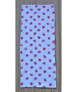 Violin Blanket/Flannel Strawberry Print/Fiddle/1/8 Size/Children's - $11.95