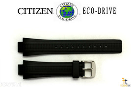 Citizen Eco-Drive E812-S043298 13mm Black Rubber Wristwatch Band E820-S0... - $69.95